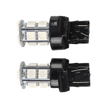 WSFS Hot 2x T20 W21/5W 3156 3157 5050 SMD 13 LED BULB SPOT AUTO CAR lamp Red light(China)