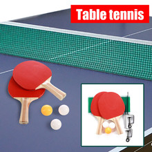 Paddles-Kit-Set Table-Tennis-Net Sports-Accessories Ping-Pong Indoor-Games Outdoor Portable