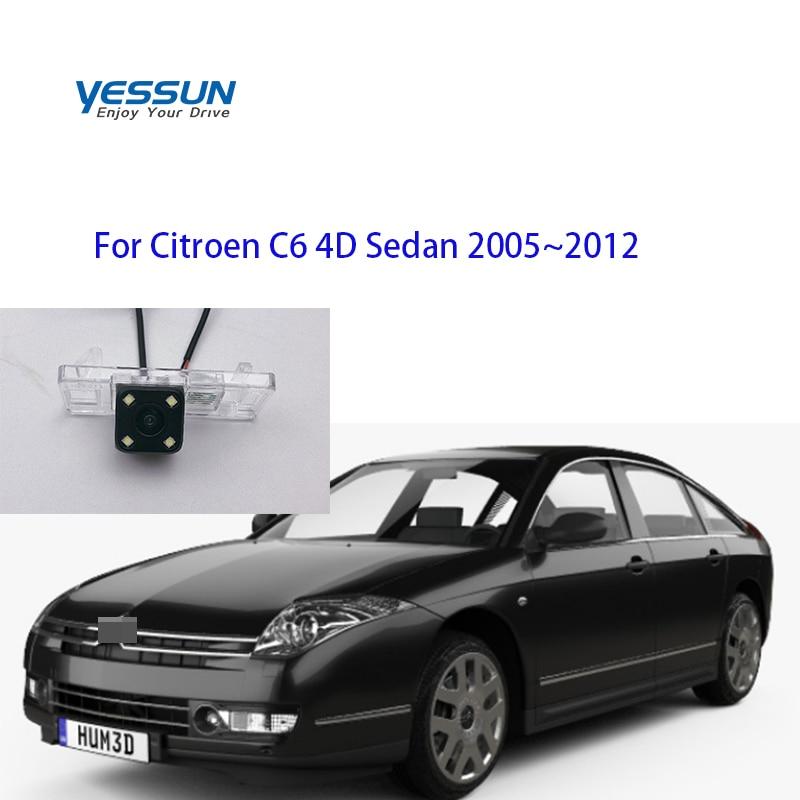 Yessun  Car Accessories Night Vision Car Rear View Reverse Backup Camera Waterproof For Citroen C6 4D Sedan 2005~2012