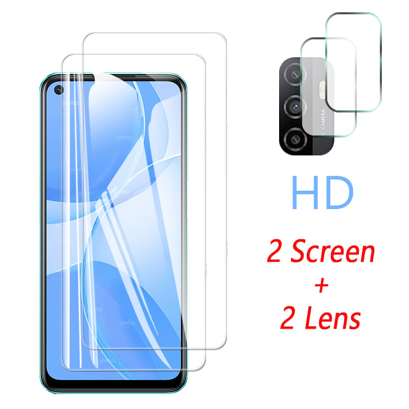 Protective Glass for OPPO A53s Screen Protector Tempered Camera Lens Safety Glass for OPPO A53s A53 S 5g PECM30 PECT30 CPH2139 3