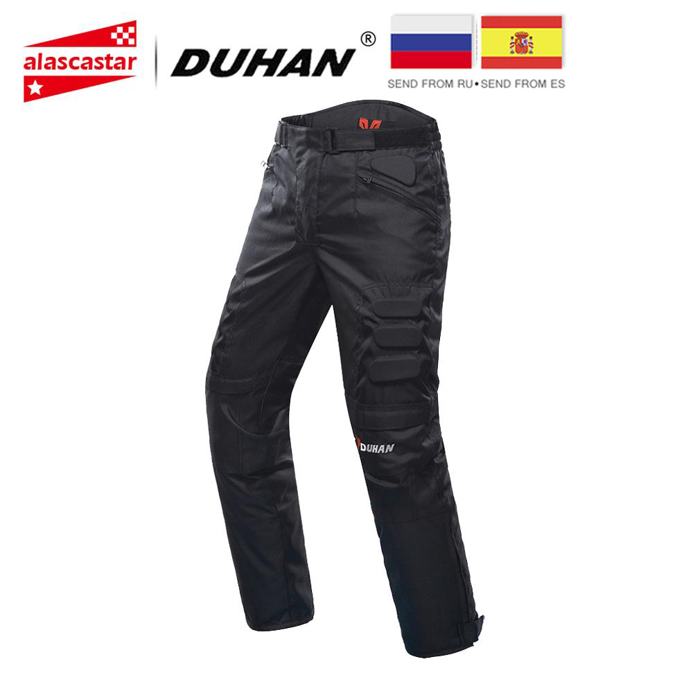 Motorcycle-Pants Trousers Pantalon Protective-Gear DUHAN Riding Knee Men Windproof  title=