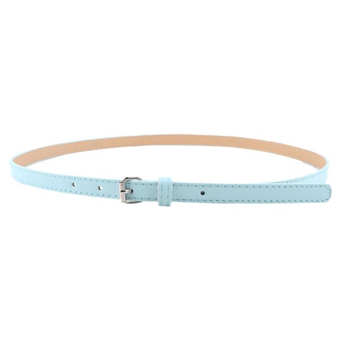 JAYCOSIN Multi color Lady's Slender thin Belt Ceinture feminion Pigskin metallic buckle women waist belt Elastic Waist Belt A527
