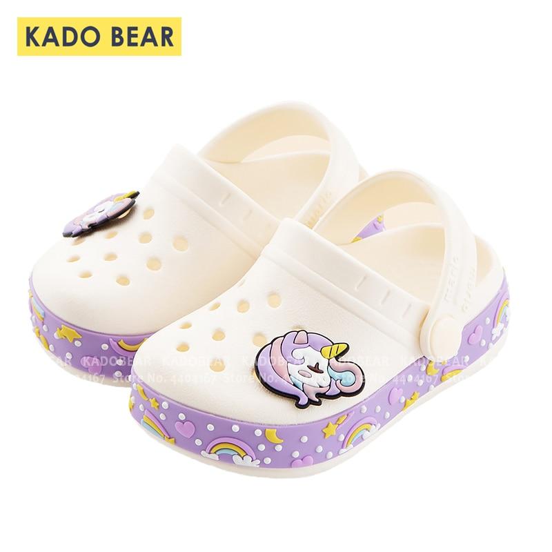 Baby Girl Cartoon Unicorn Toddler Beach Water Garden Slippers Kids Boy Cave Shoes Children Summer Flip Flops Indoor Cute Sandals