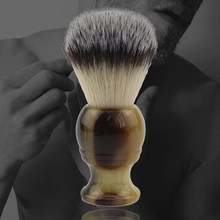 Natural resin soft bristles brush men's shaving trimming brush facial care tool, has a good hand feeling and soft hair