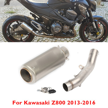Z800 Motorcycle Exhaust Pipe Muffler Escape System Middle Mid Link Tube Connector for Kawasaki Z800 2013 2014 2015 2016