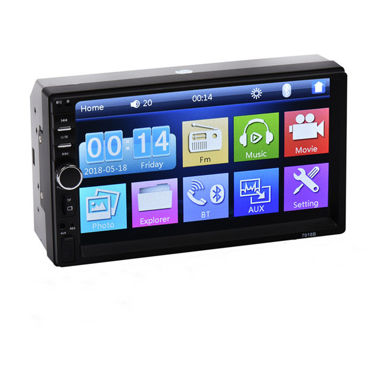 LAESD 7018b 2Din Touch Screen Auto Stereo Audio System 2 Din Car Radio MP4 MP5 Video Multimedia Player image