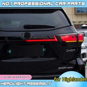 Image 4 - Caraccessories Tail lights For Toyota Highlander Taillights 2018 2019 LED DRL Running lights dynamic signal light brake light