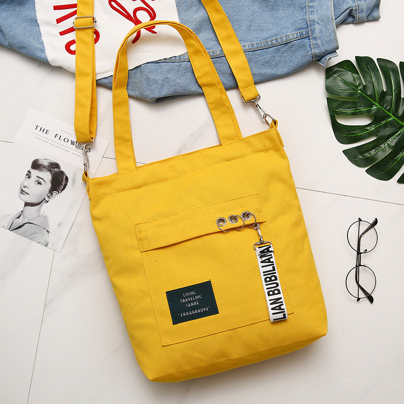 South Korea Literature And Art Simple Versatile Shoulder Bag CHIC New Style Canvas Bag Harajuku Wind Japanese-style Toth Shoulde(China)