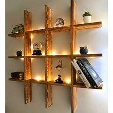 Webotto дерево светодиодный светильник, декоративный светильник Multi для настенных полок книжного шкафа