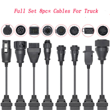 8 Car Truck Extension Cables OBD to OBD2 Car diagnostic Scanner Auto tool For Scania For