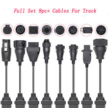 8 Car Truck Extension Cables OBD to OBD2 Car diagnostic Scanner Auto tool For Scania For cdp TCS Pro For BMW Multidiag(China)