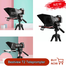 Bestview T2 Teleprompter for iPad Smartphone Interview Teleprompter Video Camera Canon Nikon Sony Camera Photo Studio DSLR