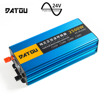 цена на 2500W Pure Sine Wave Inverter RV Power Inverter DC 24V to AC 220V Converter Adapter Voltage Converter Peak 5000W RV Accessories