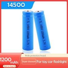 2 PÇS/LOTE EastFire AA 14500 1200mah 3.7 V baterias de iões de lítio recarregável e lanterna LED, entrega gratuita