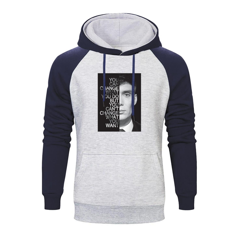 Peaky Blinders Tv Show Print Raglan Hoodie Men Funny Autumn Sweatshirt Sportswear Hip Hop Tops Winter Fleece Harajuku Streetwear