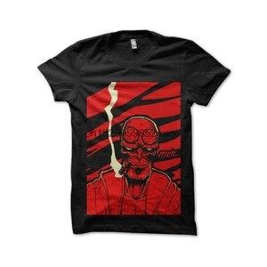 Мужская футболка, черная футболка с черепами, футболки hellboy, женская футболка