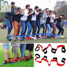 2 Stuks 4/5/8 Mensen Legged Race Bands Gebonden Aan De Voet Outdoor Game Kids Volwassenen Team Party Kinderen samenwerking Training Speelgoed Zxh