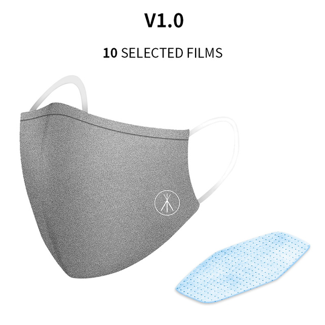 2PCS Cotton Dustproof Protective Mask Activated Carbon Filter Windproof And Flu Mask Equivalent With 10 Filters  GY 3