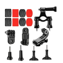 16 In 1 Action Camera Riding/Parachute/Gliding Set For Osmo Pocket Gimbal Action Camera Accessories(Flat Arc Base+J Mount+Bicy