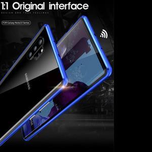 Image 5 - Funda de vidrio templado de doble cara para móvil, funda magnética frontal y trasera para Samsung Galaxy Note 10 + 5G S9 S8 S10 Plus S10E Note 10 Plus 5G 9 8