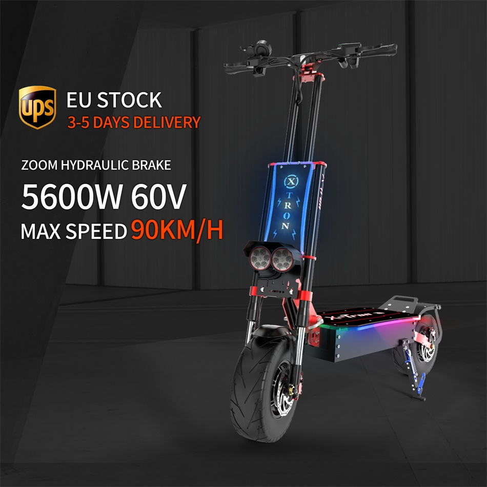 EU Warehouse 90km/h Electric Scooter 60V 5600W 13 Inch Fat Tires Kick Scooters 100km Range 72V 7000W Customized Adult Scooters