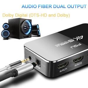 Image 5 - HDMI التبديل 2.0 4K 60HZ HDR مقسم الوصلات البينية متعددة الوسائط وعالية الوضوح (HDMI) التبديل 4 في 1 خارج HDMI الجلاد مستخرج الصوت قوس و وحدة تحكم بالأشعة تحت الحمراء ل PS3 PS4 HDTV