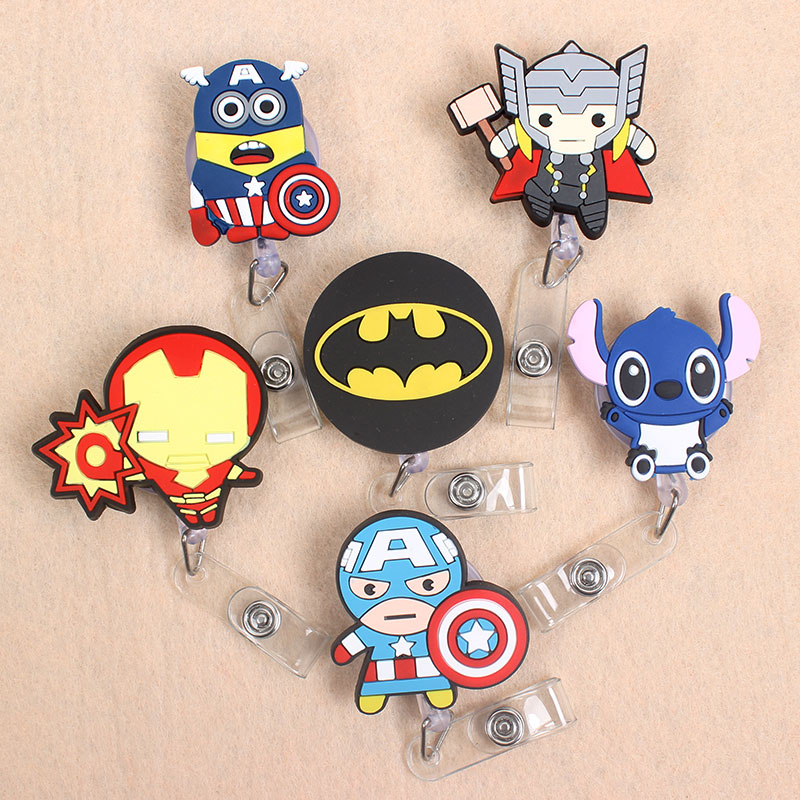 The Big Size Cartoon Animal Girl Boy Retractable Badge Card Holder Reel Nurse Exhibition Enfermera For Girl Gift Name Card Chest