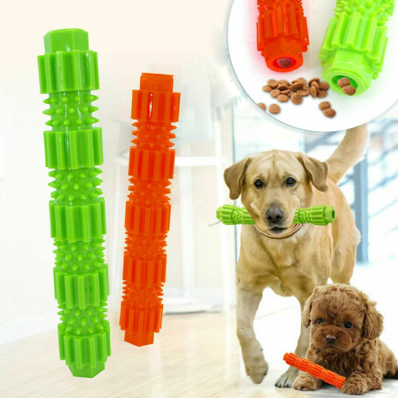 Bone Shape Pet Dog Cat Toothbrush Rubber Chew Toy Teeth Cleaning Molar Stick Toy