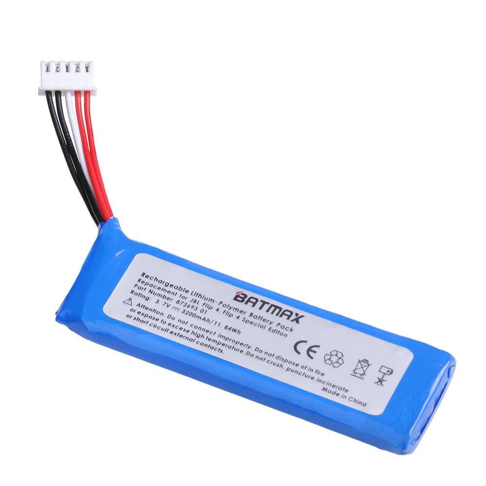 3.7V 3200mAh Batteria GSP872693 01 per JBL Carica 4 JBL Flip 4, di Vibrazione 4 Edizione Speciale