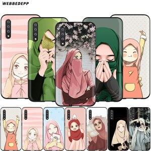 Image 1 - Webbedepp Mignon Musulman Islamique Fille pour Samsung Galaxy S7 S8 S9 S10 Plus Bord Note 10 8 9 A10 A20 A30 A40 A50 A60 A70