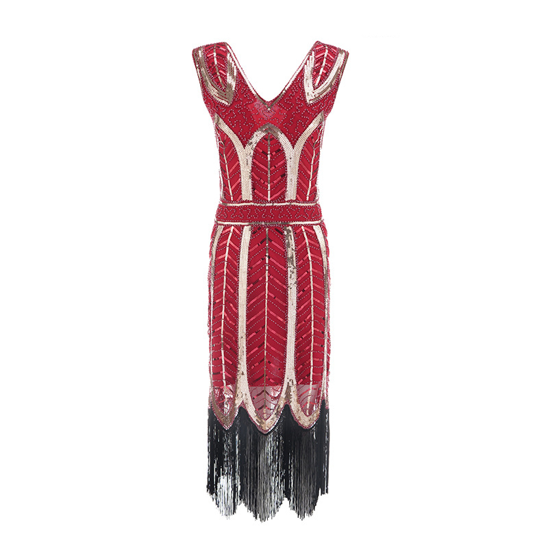 Image 5 - Plus size Womens Fashion 1920s Flapper Dress Vintage Great 