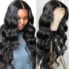 Aircabin – perruque Lace Closure wig sans colle brésilienne Remy, cheveux naturels, 13x1 + 1x6 T, 30 pouces, pour femmes
