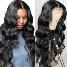 Aircabin Body Wave 30 Inch 13x6x1 T Part Lace Wigs Glueless Brazilian Remy Human Hair Transparent  Lace Front Wigs For Women