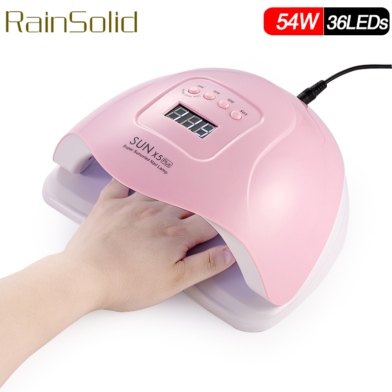 SUNX5 Nail Dryer 54W LED UV Lamp Nail Dryer Fingernail Automatic SensingToenail Gel Curing Manicure Machine Nail Art Salon Tool