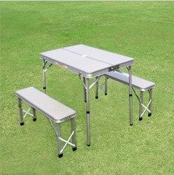 3Pcs Klapptisch Schreibtisch Laptop Bett Leichte Picknick Aluminium Legierung Camping BBQ Regen Proof Garten Sets Ultra Licht Picknick farbe