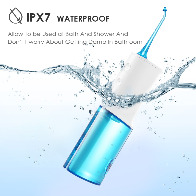Image 5 - Xiaomi Soocas W3 portable oral irrigator USB rechargeable water dental flosser irrigator for cleaning teeth water jet toothpick-in Oral Irrigators from Home Appliances
