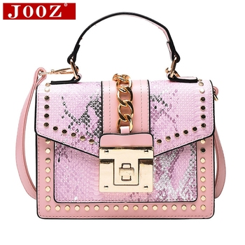 Fashion Brand Women Bag Serpentine Leather Handbags Chain lock  Tote bag Designer Crossbody Bags for Women Shoulder Bag 2017 soft leather lattice stitching 3 layers of space women tote bags handbags women famous brand casual crossbody bag