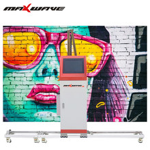 High Speed High Resolution 4 Color Ink Large Prints For Home Wall Printer Vertical 3D Wall Printer(China)