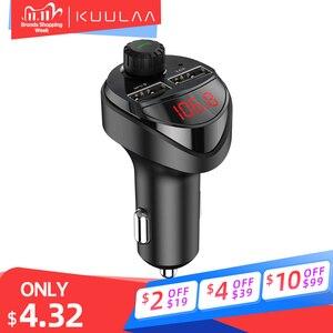 Image 1 - KUULAA Caricabatteria Da Auto Trasmettitore FM Per Auto Bluetooth Audio MP3 Lettore Carta di TF Car Kit 3.4A Doppio Dellautomobile del USB Caricatore Del Telefono per Xiaomi Mi