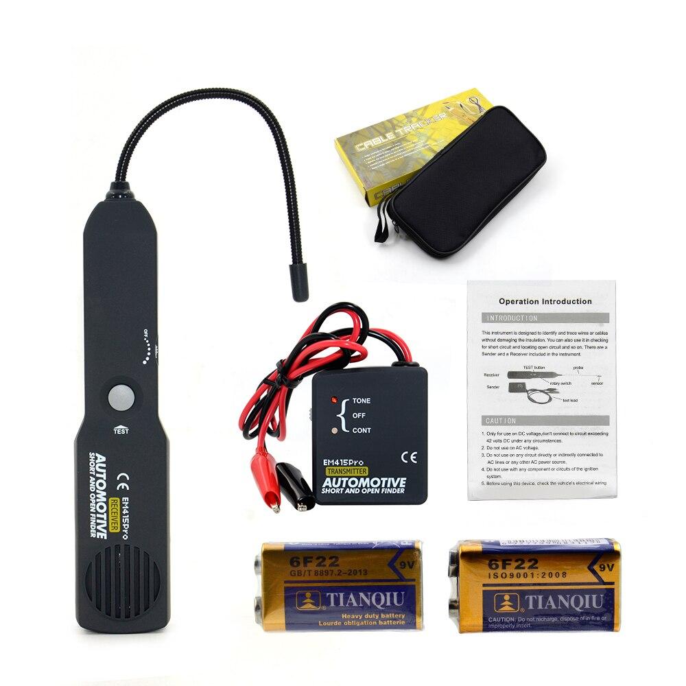 Автомобильный Автомобильный детектор короткого и открытого типа emem415pro, автомобильный детектор короткого замыкания, инструмент для ремонта автомобиля, детектор, отслеживающий кабели или провода