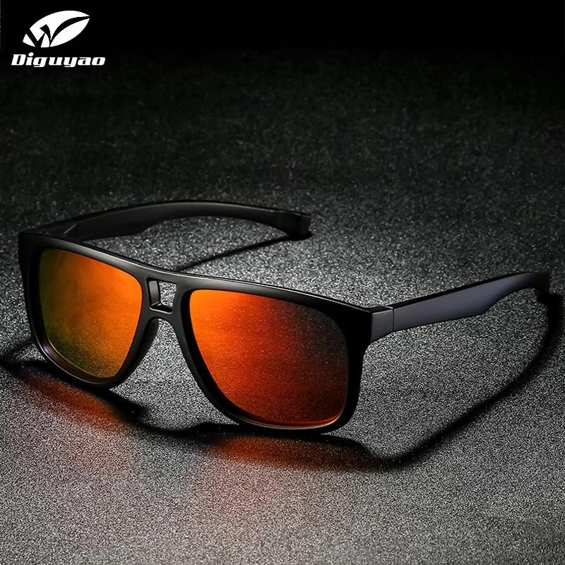 DIGUYAO square sunglasses men polarized shield mirrored sun glasses for male UV400 driving man eyewear goggle