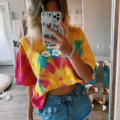 Elegant Floral Print Short Sleeve Blouse Shirt Women 2020 Summer Loose O-neck Tops New Casual For Womens Clothing Blouses Femme