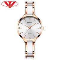 NIBOSI Women Watches Bracelet Watch Ladies Wrist Watch Women Waterproof Fashion Casual Crystal Dial Rose Gold Relojes Para Mujer