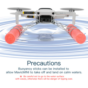 Image 2 - foam rod landing gear buoyancy water landing shock absorption heighten leg for dji mavic mini /mavic mini 2 drone Accessories