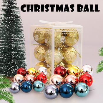12 sztuk 2020 ozdoby choinkowe ozdoby kulek Xmas bombki świąteczne dekoracje ślubne bożonarodzeniowe dla domu Navidad tanie i dobre opinie CN (pochodzenie) Ball Xmas 1 pc