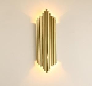 Image 4 - Moderne Kreative Individualität Metall Wand Licht Retro Gold Wohnzimmer Schlafzimmer Küche Gang Dekoration Wand Leuchte Beleuchtung