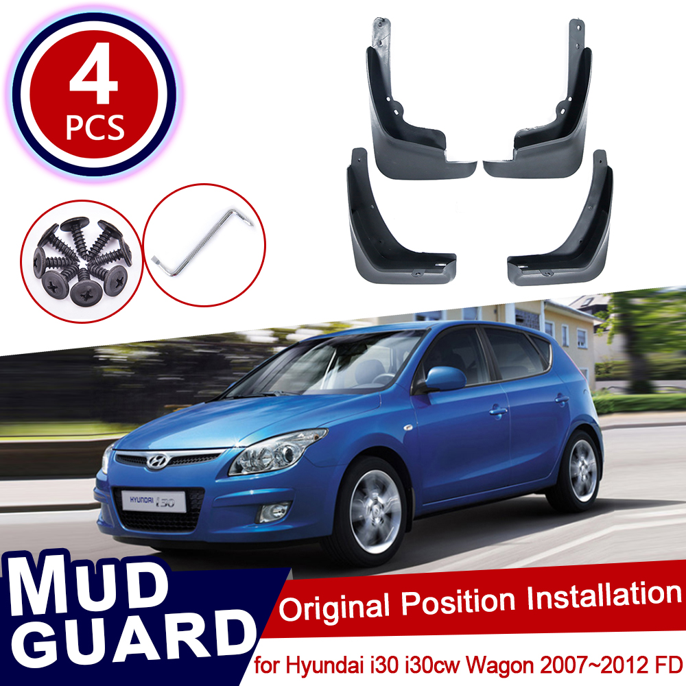 for Hyundai i30 i30cw Wagon 2007~2012 FD Car Mud Flaps Front Rear Mudguard Splash Guards Fender Mudflaps 2008 2009 2010 2011|Car Stickers| |  - title=