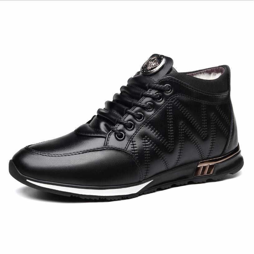 JX816 2019 Neue Mann Winter Stiefel Qualität Mikrofaser Leder Schuhe White100 % wolle futter Warme Verdicken Innenrohr Stiefel Mann Schnee stiefel