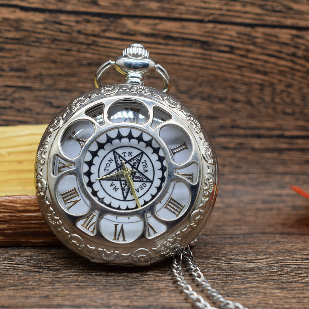Permalink to Pocket & Fob Watches  Fullmetal Alchemist Silver Pocket Watch Quartz Stars Watches Japan Anime Cosplay Necklace Watch Gift