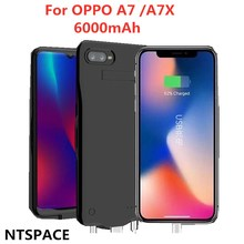 6000mAh Portable External Mobile Power Pack Charging Box For  OPPO A7 A7X Battery Charger Shell Bracket Back Cover